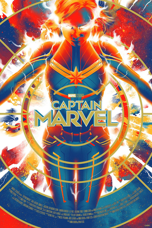 Captain Marvel Posters kwa Matt Taylor