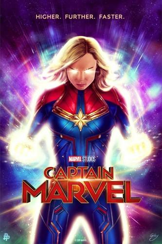 Marvel's Captain Marvel fond d'écran called Captain Marvel poster