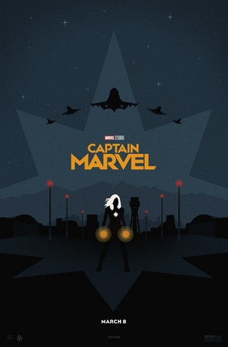 Marvel's Captain Marvel kertas dinding called Captain Marvel poster