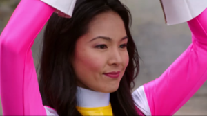 Cassie Second Pink Turbo Ranger and Pink Space Ranger 2