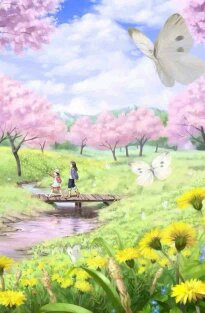 cereja Trees in Full Bloom