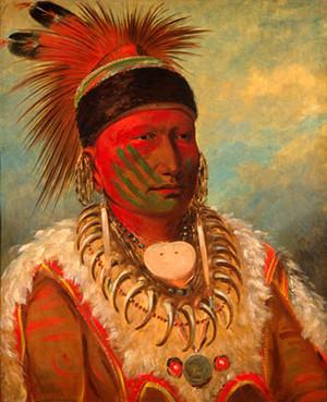 Chief White đám mây bởi George Catlin