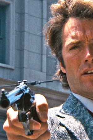 Clint Eastwood on the set of Dirty Harry (1971)