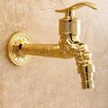 Contemporary Widespread Golden Bathroom Sink Faucet - fine-art photo