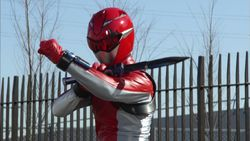 Devon Morphed As The Beast Morphers Red Ranger