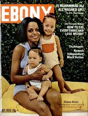 Diana Ross And Her Children On The Cover Of Ebony