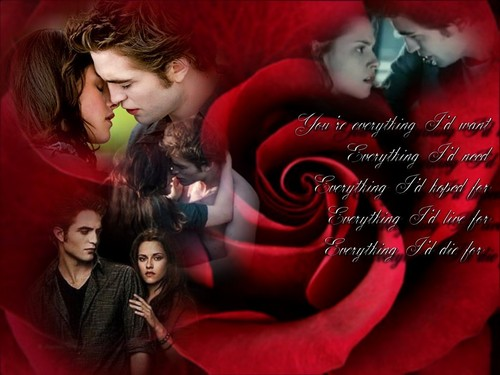 Siri-siri Twilight kertas dinding entitled Edward and Bella Twilight Valentine