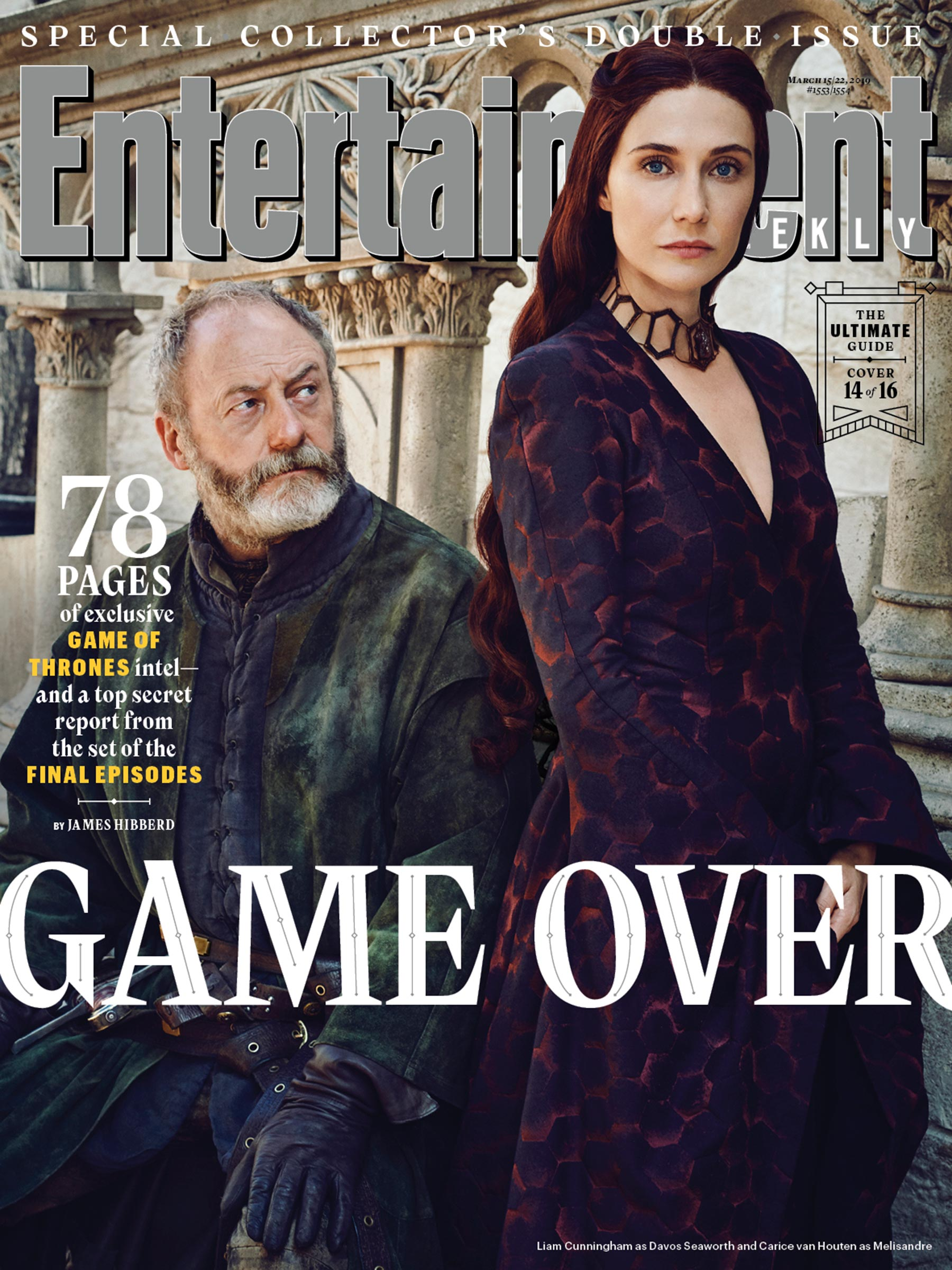 Entertainment Weekly Cover  - March 2019 - Davos and Melisandre