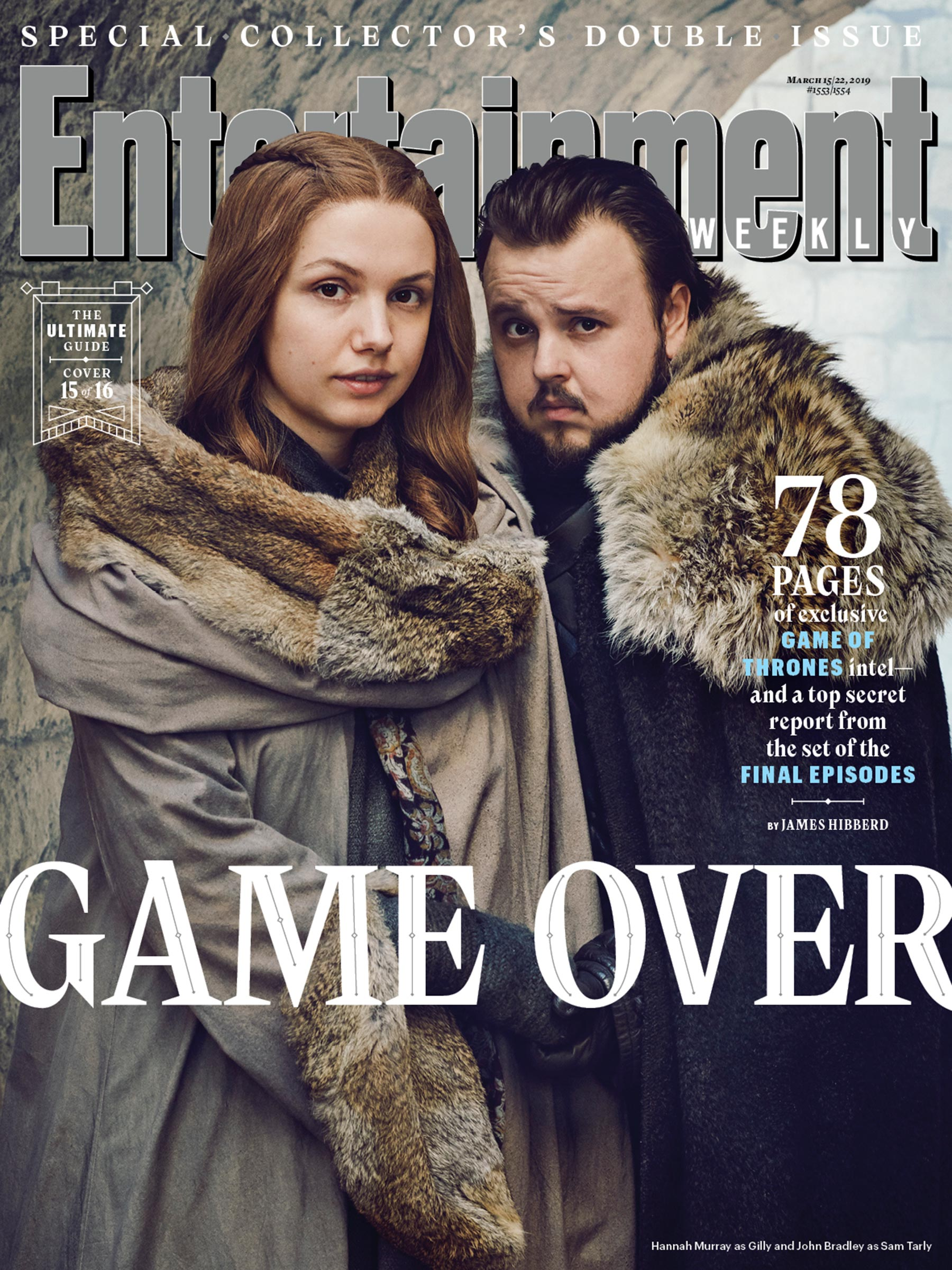 Entertainment Weekly Cover  - March 2019 - Gilly and Sam