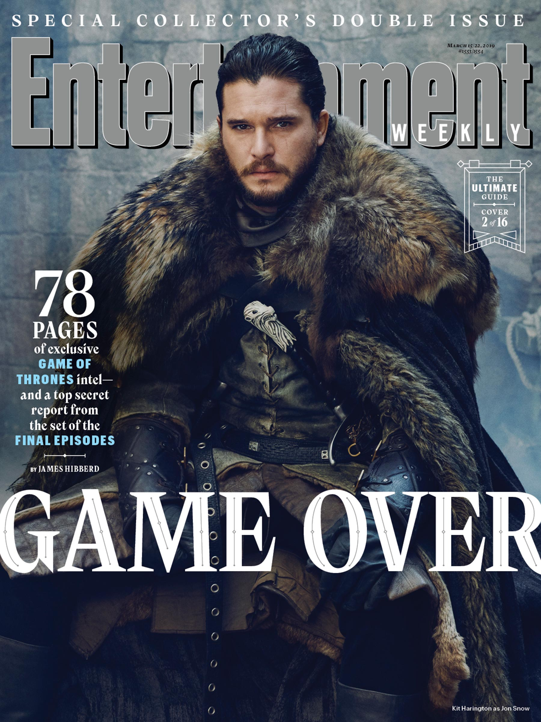 Entertainment Weekly Cover - March 2019 - Kit Harington as Jon Snow