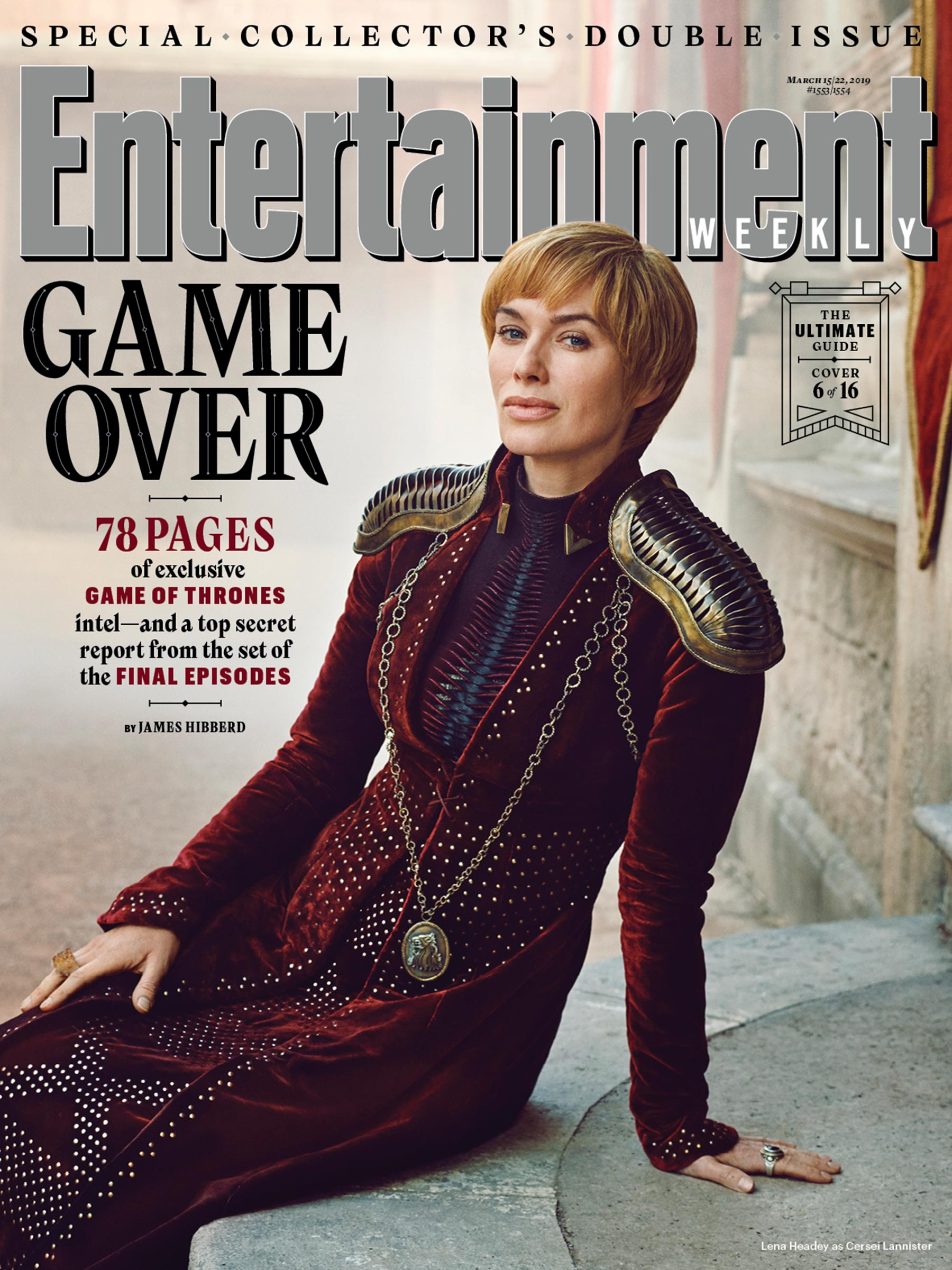Entertainment Weekly Cover - March 2019 - Lena Headey as Cersei Lannister