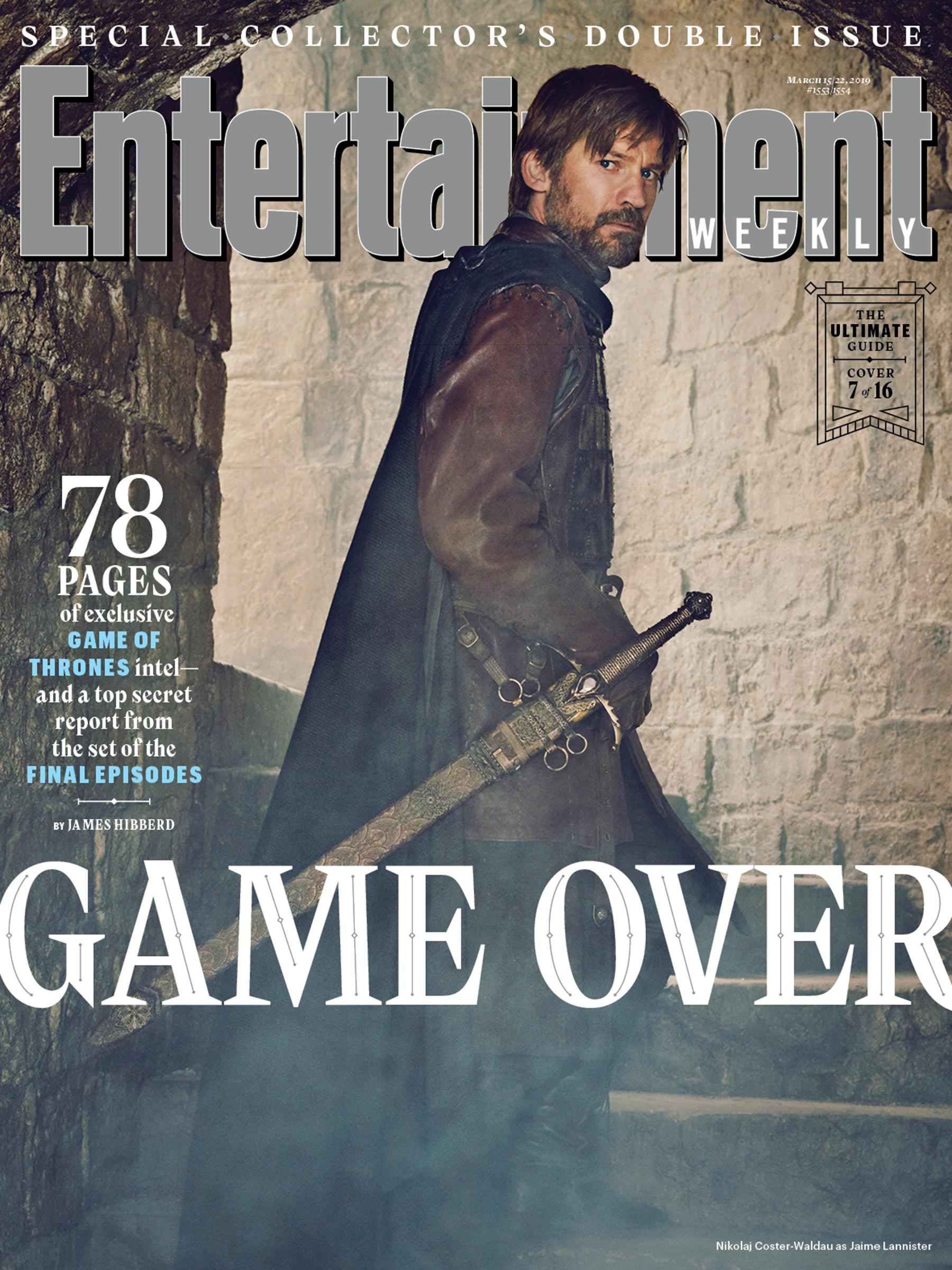 Entertainment Weekly Cover - March 2019 - Nikolaj Coster-Waldau as Jaime Lannister
