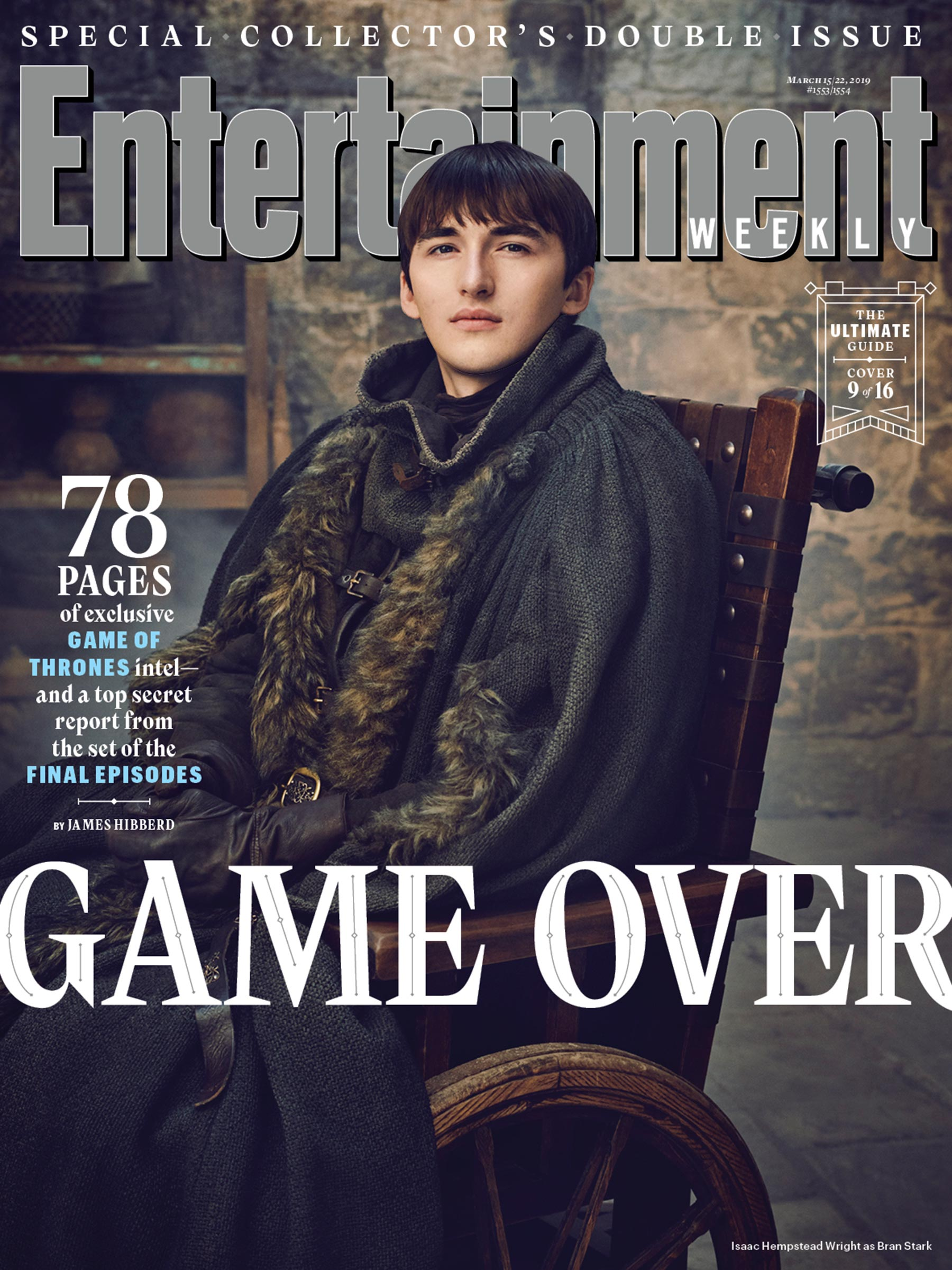 Entertainment Weekly Cover - March 2019 - Isaac Hempstead-Wright as Bran Stark