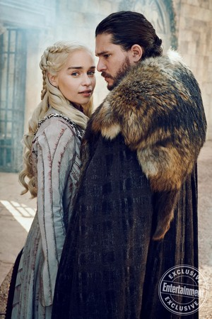 Entertainment Weekly Photoshoot - 2019 - Emilia Clarke as Daenerys and Kit Haringotn as Jon Snow