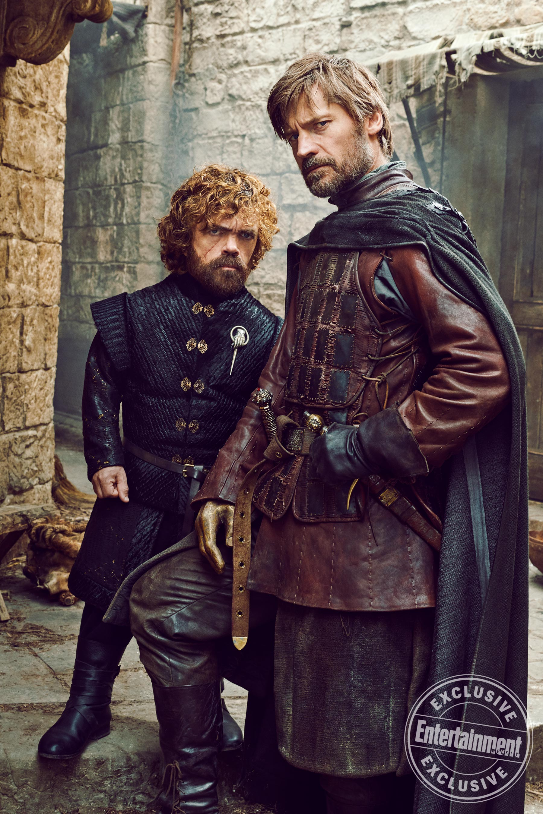 Entertainment Weekly Photoshoot - 2019 - Peter Dinklage as Tyrion and Nikolaj Coster-Waldau as Jaime