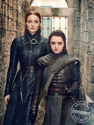 Entertainment Weekly Photoshoot - 2019 - Sophie Turner as Sansa and Maisie Williams as Arya Stark