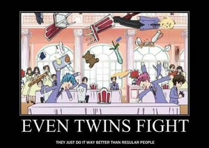 Even Twins Fight