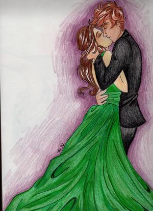 Finnick/Annie Fanart - A Wedding In District 13