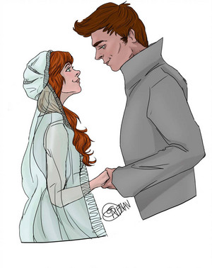 Finnick/Annie Fanart - The Wedding