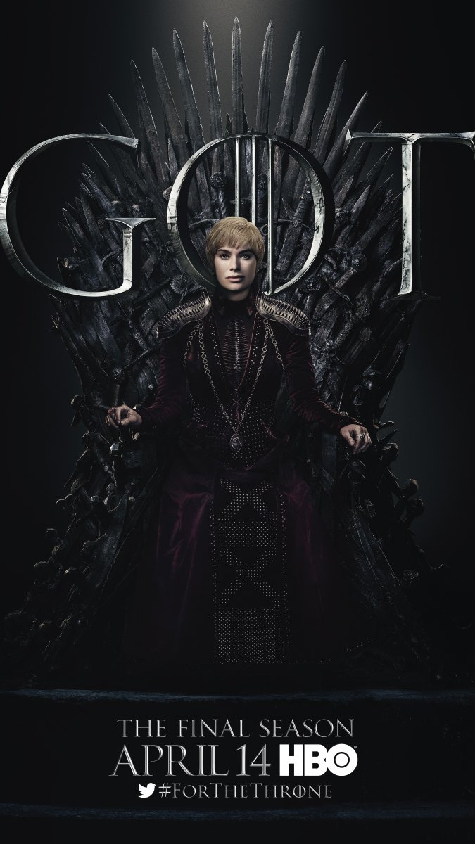 Game of Thrones - Season 8 Character Poster - Cersei Lannister
