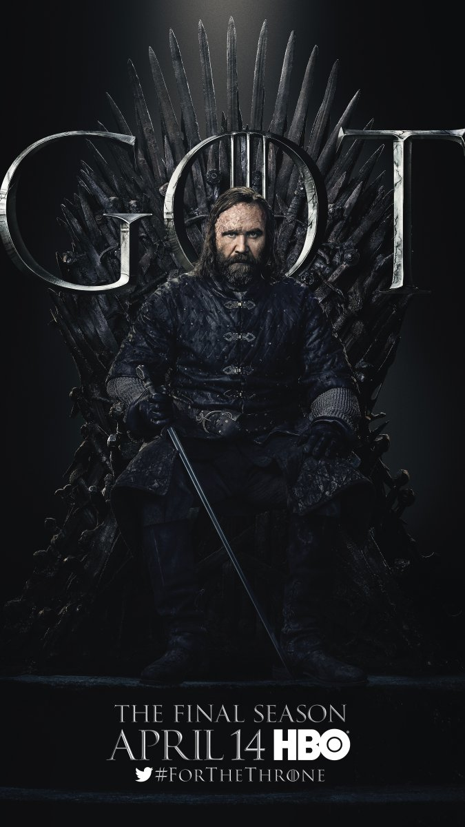 Game of Thrones - Season 8 Character Poster - The Hound