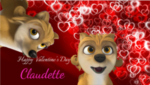 Happy Valentine's ngày Claudette