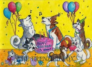 Husky Birthday