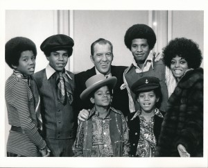 Jackson 5 Backstage With Diana Ross And Ed Sullivan