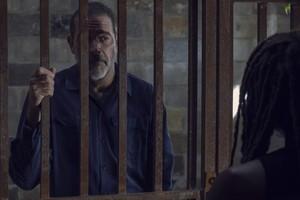 Jeffrey Dean morgan as Negan in 9x12 'Guardians'