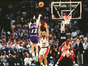 John Stockton's Series-Winning Three-Pointer - Game 6 1997 Western Conference Finals
