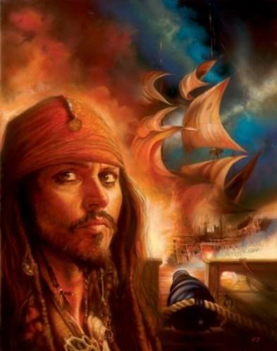 Disney fond d'écran called Johnny Depp As Captain Jack Sparrow