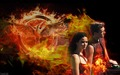 Katniss/Peeta Wallpaper - Fire - peeta-mellark-and-katniss-everdeen fan art