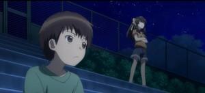 Kid Kyon and kid Haruhi Suzumiya