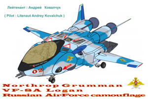 """L.T. Andrey Kovalchuk """"VF-8A 宇宙 Logan"""" Russian Air Force Camouflage """""""