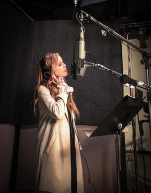 Lisa Marie In The Recording Studio