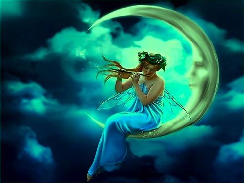 fantasía fondo de pantalla titled Magical Moon Fairy