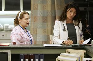 Merritt Wever as Zoey Barkow in Nurse Jackie