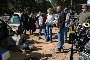 Merritt Wever behind the scenes of The Walking Dead