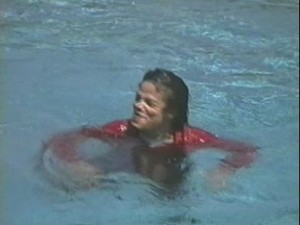 Michael After Being Pushed In The Pool
