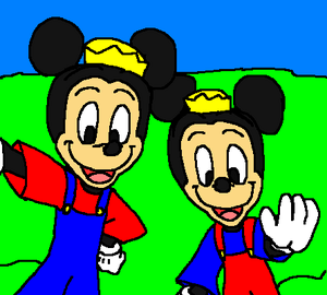 Morty and Ferdie Fieldmouse Say Cheese.