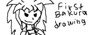 My first Bakura drawing