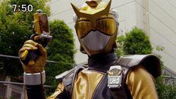 Nate Morphed As The Beast Morphers goud Ranger