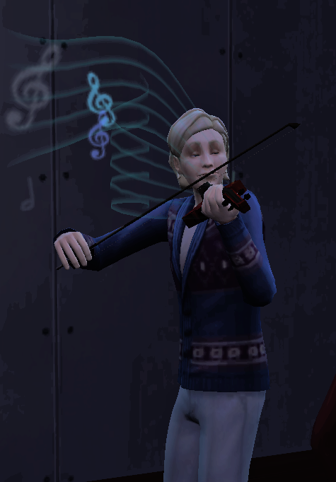 Norway Playing Violin