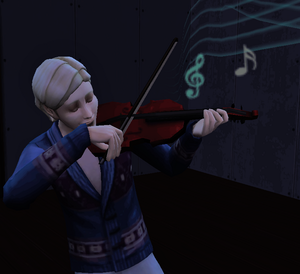 Norway Playing Violin