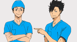 Nurse Bokuto and Kuroo