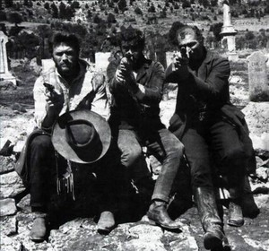 On the set of The Good, The Bad, and The Ugly