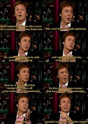 Paul explains the Abbey Road album cover