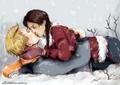 Peeta/Katniss Fanart - Snow - peeta-mellark-and-katniss-everdeen fan art