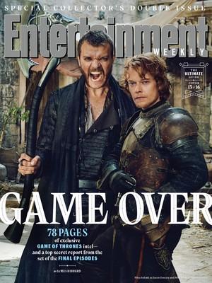 Pilou Asbaek as Euron and Alfie Allen as Theon Greyjoy - Entertainment Weekly Cover - 2019
