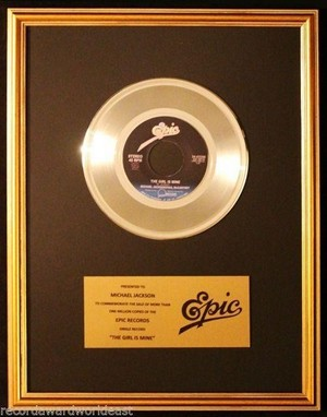 Platinum Record For The Girl Is Mine
